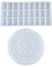 lfdhcn DIY Runen Symbool Crystal Epoxy Hars Mold Circle Waarzeggerij Board Siliconen Mould