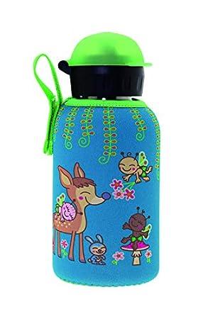 Laken Botella Infantil Térmica de Acero Inoxidable 0,35L y Funda de Neopreno
