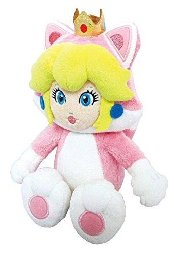 Little Buddy Super Mario Neko Cat Peach Plush, 10
