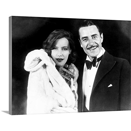 GREATBIGCANVAS Gallery-Wrapped Canvas Entitled Garbo and Gilbert, 1927 by 16