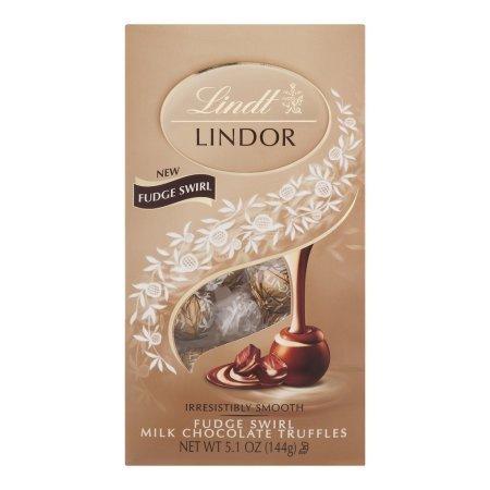 Lindt Lindor Milk Chocolate Truffles Fudge Swirl, 5.1 OZ (Lindor Truffles Milk)