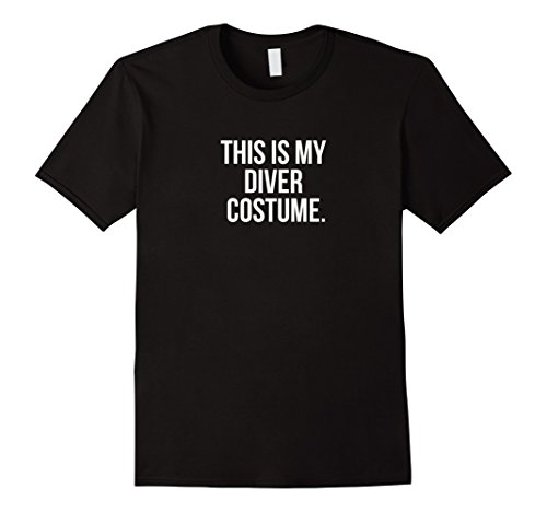 Diver Suit Costume (Mens This is my Diver Costume funny Halloween tee shirt 3XL Black)