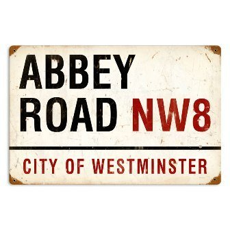 Past Time Abbey Road Street Signs Vintage Metal - Road Sign Street Abbey