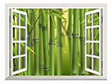 good looking bamboo wall mural  Modern White Window Looking Out Into a Bamboo Forest II - Wall Mural, Removable Sticker, Home Decor - 36x48 inches