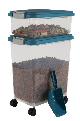 IRIS Airtight Pet Food Container Combo Kit Blue MoonGray