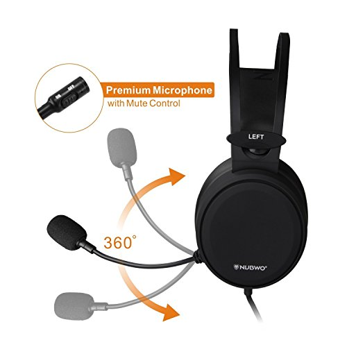 4180kBtOcqL - Lightweight-PS4-Xbox-One-Gaming-Headset-Stereo-with-Microphone-Mute-35mm-Wired-Over-Ear-Computer-Headphones-Volume-Control-Flexible-Headband-for-PC-Laptop-Tablet-Mac-Chat-Video-Conference-Black