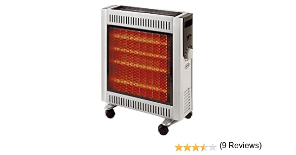 Supra INFRA2410 - Estufa de infrarrojos halógena (2400 W, calor radiante, tubo de cuarzo): Amazon.es: Hogar