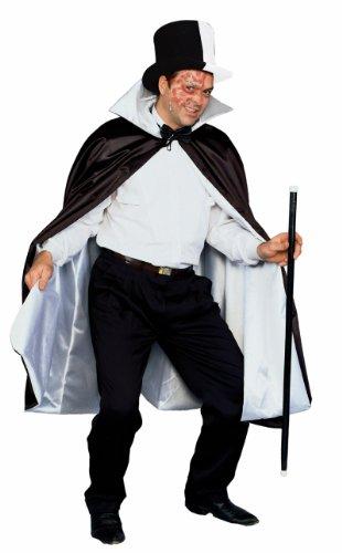Forum Reversible Phantom Costume Cape 56-Inches, Black/White, One