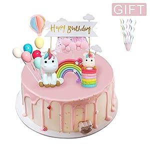 BBLIKE Decoracion Unicornio Cake con Cloud Rainbow + Star ...