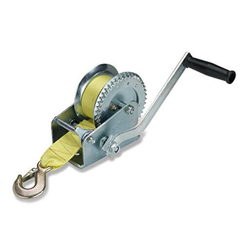 Hiltex 20694 Marine Trailer Winch, Heat Treated Steel | Ratcheting Hand Winch Action | 2000 Lb Capacity