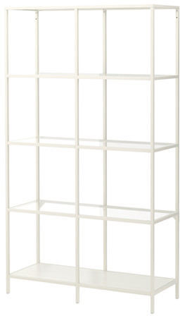 VITTSJÖ Shelving unit - white/glass - IKEA