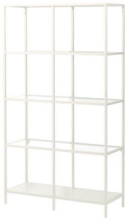 VITTSJÖ Shelving unit - white/glass - IKEA