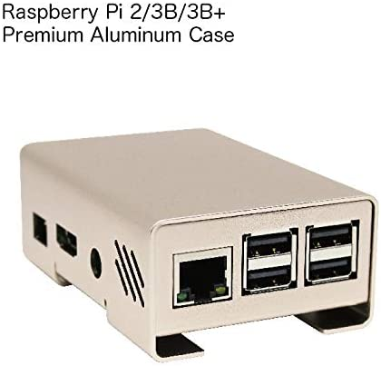 L/&K Raspberry Pi Premium Aluminum Case for 2//3B//3B+ Textured Rose Gold