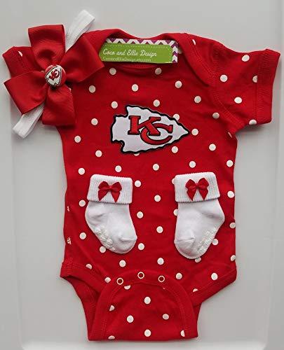 new styles ed99e 77906 Amazon.com: Kansas City Chiefs baby girl outfit/KC Chiefs ...