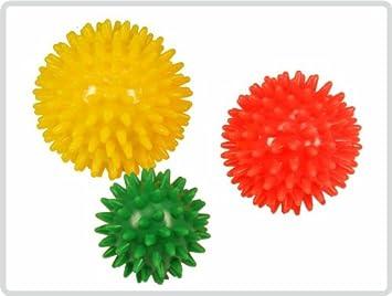 gelb *Top-Qualität zum Top-Preis* Igelball Massageball Noppenball ø 8 cm Farbe