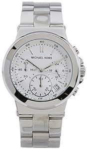 Michael Kors MK5221 - Reloj cronógrafo de cuarzo para mujer, correa de acero inoxidable chapado color plateado (cronómetro)