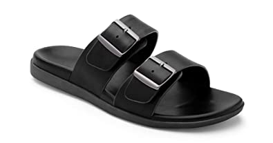 87beca5fa204 Vionic Men s Ludlow Charlie Slide Sandal - Adjustable Buckle Sandals with  Concealed Orthotic Arch Support Black