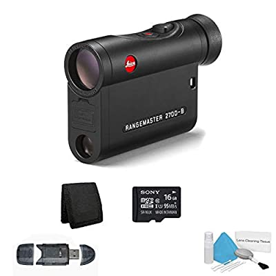 Leica 7x24 Rangemaster CRF 2700-B Laser Hunting Rangefinder 2700 Yards - Bundle with Micro SDHC Memory Card + More by Leica (6AVE)