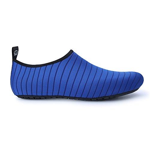 Aqua Chaussures Schage Bleues D'eau De Yoga Femmes Rayures Skin Plage Surf Rapide Piscine Nus Pour Natation Jiasuqi Pieds 8IxfwTxd