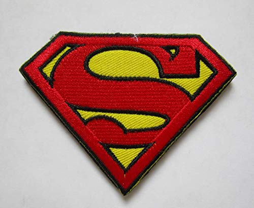 DC Comics Justice League Superman 'S' Logo Military Patch Fabric Embroidered Badges Patch Tactical Stickers for Clothes with Hook & Loop -