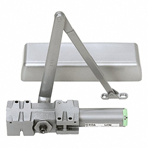 CRL LCN Aluminum ANSI Grade 1 Adjustable Spring Power Multi-Size Size 1 - 6 Surface Mounted Door Closer with Delayed Action by CR Laurence