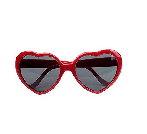 Lady Lunettes de de nbsp;Fashion Yeah67886 Rouge Lunettes Gris plaque forme soleil en cœur qS1R45PSp