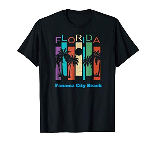Retro Panama City Beach Florida Palm Tree Souvenir Shirt