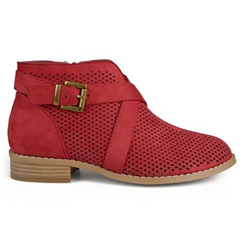 Brinley Co Women's Revel Ankle Boot, red, 8 Regular US from Brinley Co