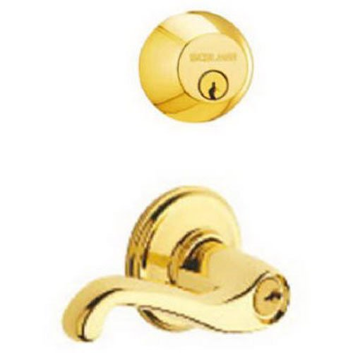 - Schlage FB50N V FLA 505 FB50NVFLA505 Door Lever, Bright Brass