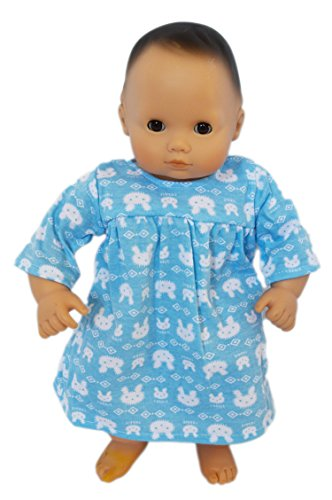 My Brittany's Blue Bunny Nightgown for Bitty Baby Dolls- 15 Inch Doll Clothes for Bitty Baby Dolls
