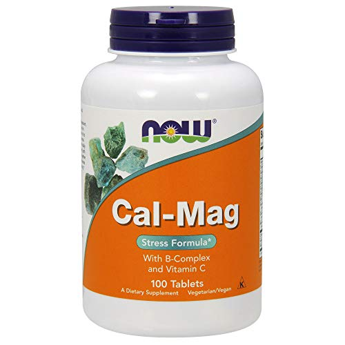 NOW Cal-Mag Stress Formula, with B-Complex & Vitamin C,100 Tablets (Pack of 2) (Formula Vitamin B-complex)