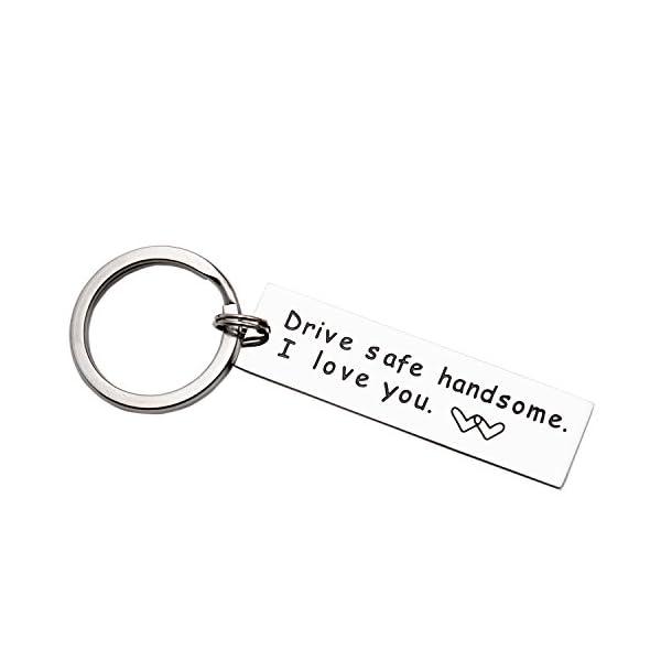 LParkin Drive Safe Keychain Handsome I Love You Trucker Husband gift for husband dad gift valentines day stocking stuffer