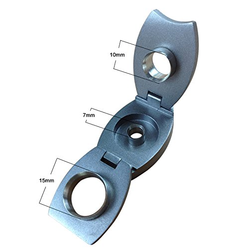 CiGuru CP039 Metal Cigar Punch Triple Punches Multiple Punches With Stainless Steel Blades Cigar Cutter