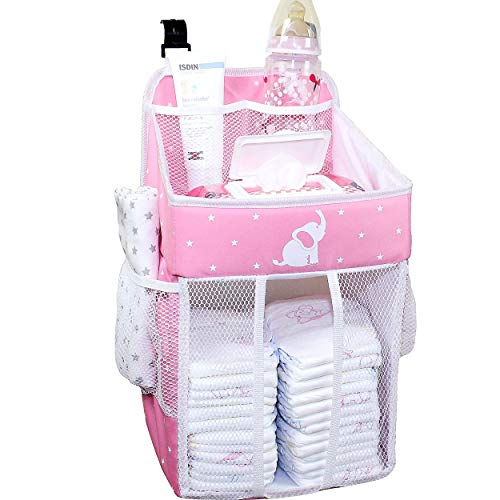 Hanging Diaper Caddy - Baby Diaper Organizer for
