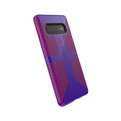 Speck Products CandyShell Grip Samsung Galaxy S10+ Case, Ultraviolet Purple/Ruby Red ()