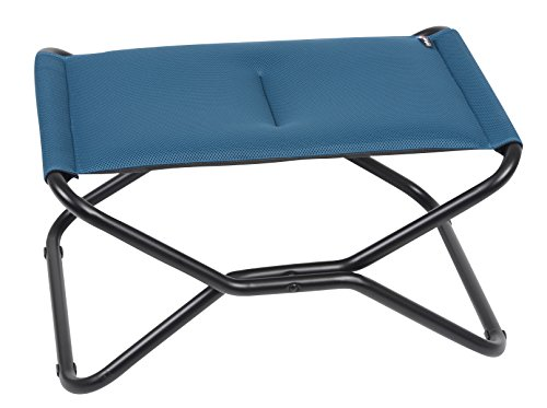 Lafuma Next Air Comfort - Folding Footrest- Coral Blue Air Comfort Fabric - Indoor or Outdoor Footstool or Footrest