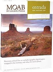 """Moab Entrada Rag Fine Art, 2-Side Natural Matte Inkjet Paper, 15.5 mil., 190gsm, 8.5x11"""", 25 Sh"""