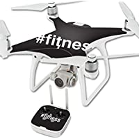 Skin For DJI Phantom 4 Quadcopter Drone – Fitness | MightySkins Protective, Durable, and Unique Vinyl Decal wrap cover | Easy To Apply, Remove, and Change Styles | Made in the USA