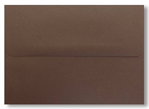 Dark Chocolate Brown 50 Boxed A7 (5-1/4 x 7-1/4) Envelopes 70lb for 5 X 7 Invitations Weddings Showers from The Envelope Gallery