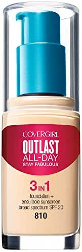 COVERGIRL Outlast All-Day Stay Fabulous 3-in-1 Foundation Classic Ivory, 1 oz