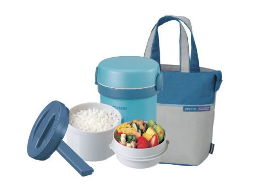 Zojirushi Ms.Bento Stainless Lunch Jar, Aqua Blue