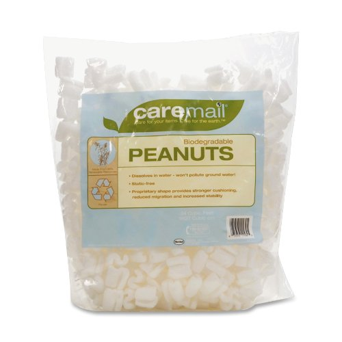 Duck CareMail Biodegradable Peanuts, 0.34 Cubic Feet (1092722) by Caremail