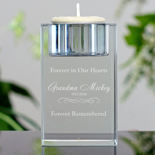 Engraved Candle Holder (GiftsForYouNow Personalized Memorial Candle Holder, 3