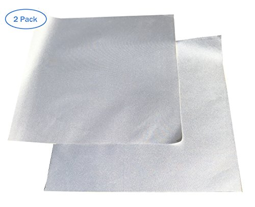 - Patch for Car Covers - Polyester Material (Silver Type) - Strong Self Adhesive Backing - 1 ft x 1ft Patch - Use On Boat Covers, RV Covers, Car Covers, Motorcycle Covers and More - 2 Pack