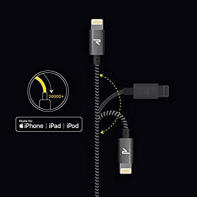 Rampow Cable iPhone Cable Lightning 2M Cargador iPhone [Apple MFi Certificado] Nylon Duradero Compatible con iPhone XS MAX XR X 8 Plus 7 Plus 6S 6 ...