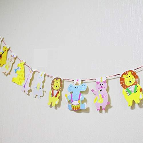 Rain Forest Jungle Animals Wall Decoration Decor Colored Flags Bunting Garland