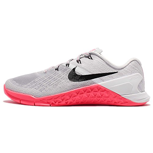 - NIKE Womens Metcon 3 Training Shoes (Wolf Grey/Black- Racer Pink)