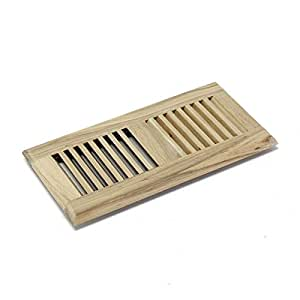 4 X 12 Inch Hickory Wood Self Rimming Floor Register Vent