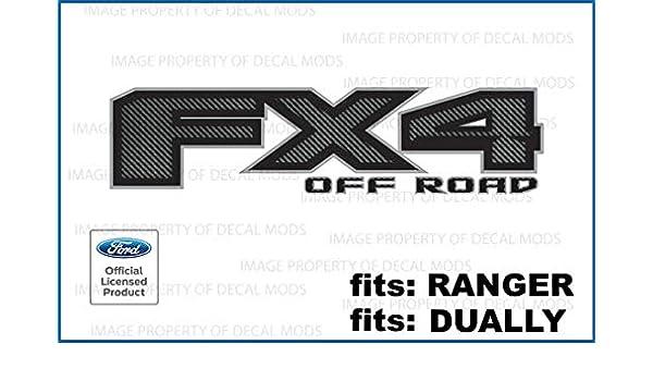 2017 Ford F150 FX4 Off Road Decals Stickers FCFB Carbon Fiber Black set of 2
