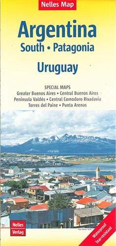 Nelles Map Landkarte Argentina  South Patagonia Uruguay  1 2.500.000   Reiß  Und Wasserfest; Waterproof And Tear Resistant; Indéchirable Et ... And Impermeable  Nelles Map   Strassenkarte